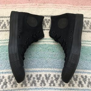 All Black Hi Top Converse